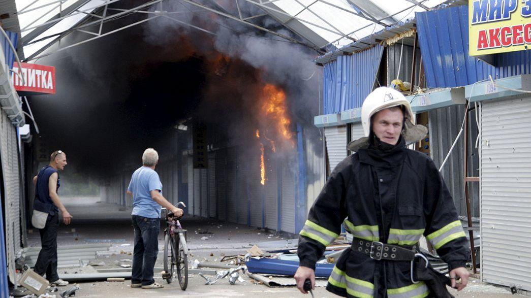 Ukrayna'nın doğusunda çatışmalar şiddetlendi