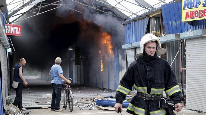 Heavy fighting in eastern Ukraine despite ceasefire