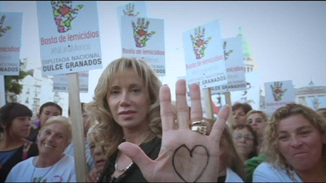 Tömegtüntetések a nők védelmében Dél-Amerikában