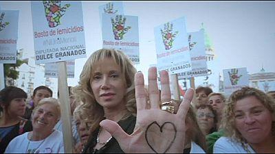 Argentinos na rua contra a violência sobre as mulheres