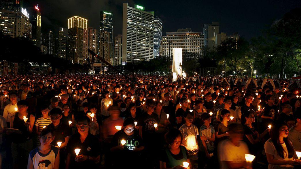 Tiannanmen lembrado em Hong Kong