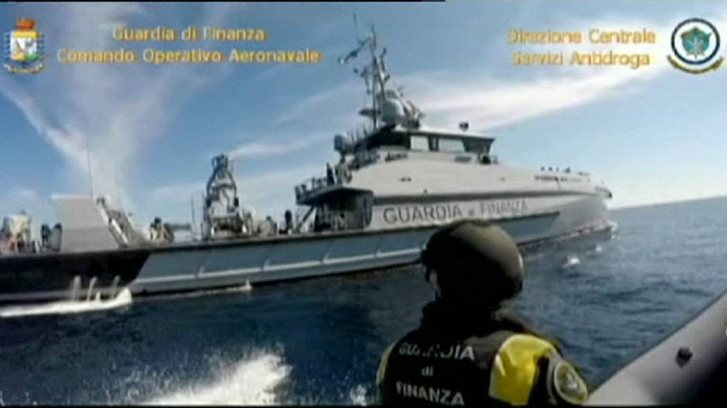 Italian police seizes Turkish ship carrying 12 tons of hashish