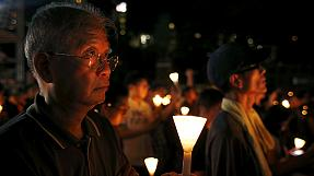 Thousands attend Tiananmen Square vigil in Hong Kong