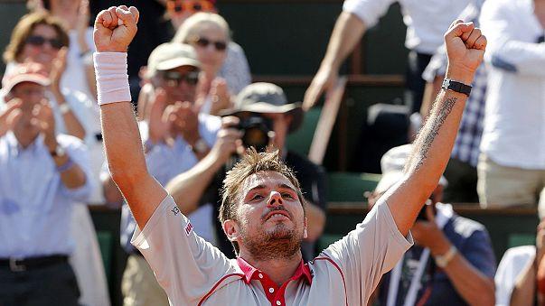 Wawrinka, Roland Garros'ta ilk kez final oynayacak