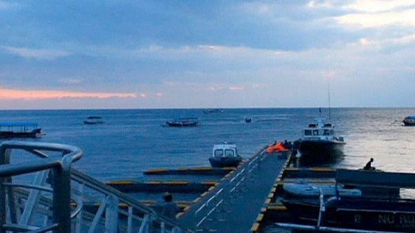 انفجار در یک قایق در اندونزی بیست و پنج مجروح بر جای گذاشت