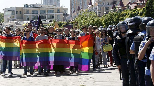 Violence erupts at Kyiv gay pride march