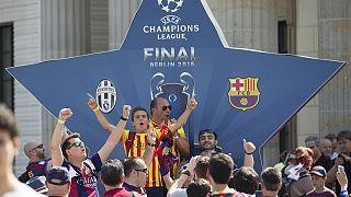 هواداران یوونتوس و بارسلونا آماده برای جشن قهرمانی در برلین