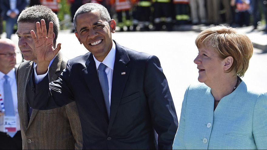 Líderes do G7 chegam à Alemanha