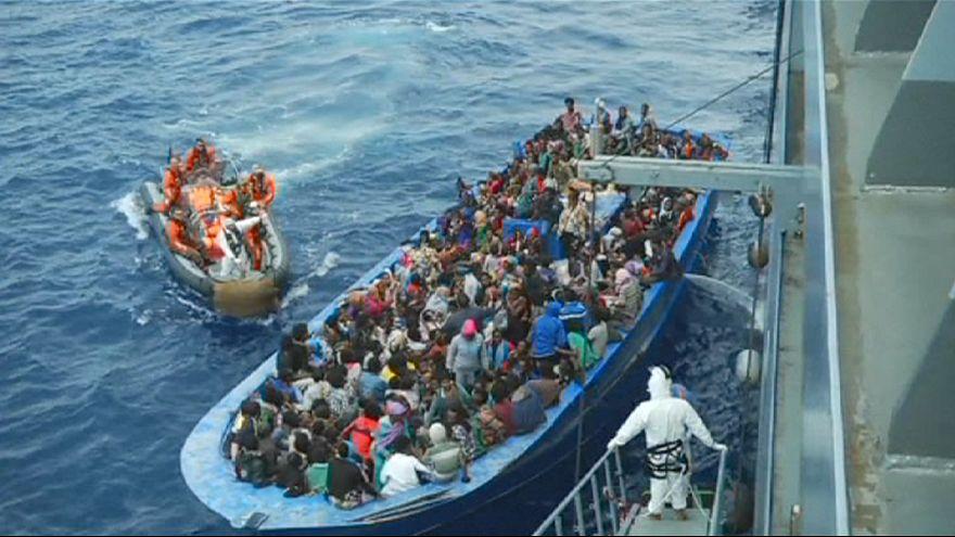 Cerca de 6.000 inmigrantes rescatados el fin de semana en aguas del Mediterráneo