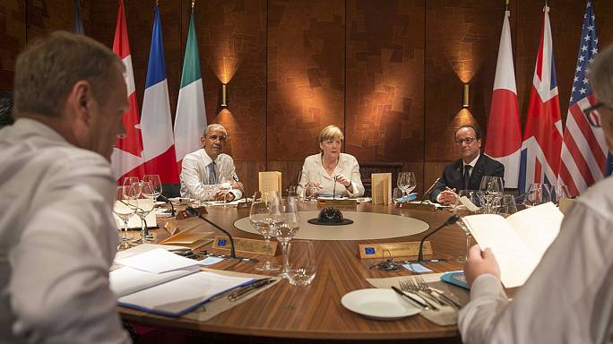 G7 leaders take a tough line against Russia at Alpine summit
