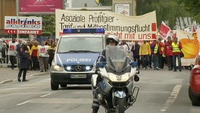 Deutsche Post çalışanları grevde