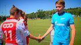 Futball a barátságért a Brandenburgi kapunál