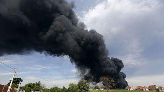 Ukraine : incendie dans un dépôt pétrolier