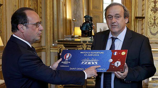 Un anno a Euro 2016: Platini incontra Hollande all'Eliseo