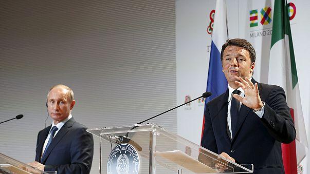 Putin all'Expo incontra Renzi