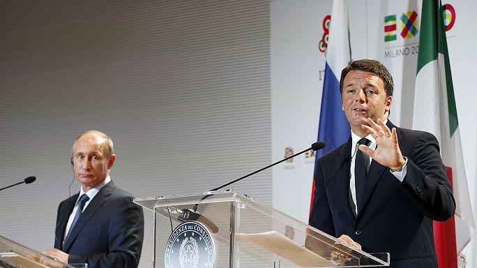 فلاديمير بوتين في ميلانو للتباحث مع رينزي في العلاقات بين البلدين