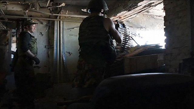 استمرار المعارك العنيفة بالقرب من مطار دونيتسك شرق اوكرانيا