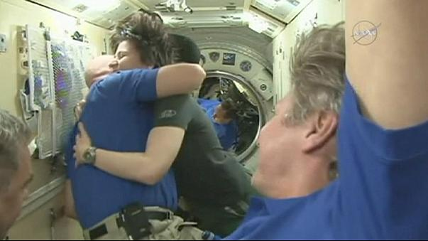 Astronauts return home after record-breaking ISS mission