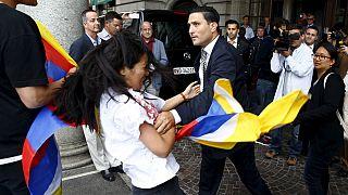 نشطاء التبت يحتجون في سويسرا
