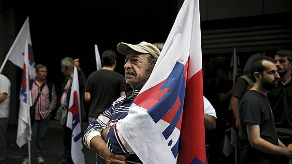 Protesters warn Greece's government over pensions as sources claim EU deal is close