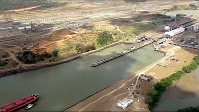 First Atlantic locks flooded in new Panama Canal