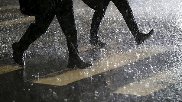 Schwere Regenfälle in Südjapan