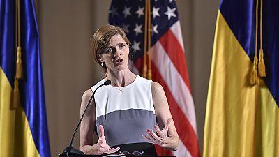 UN-Botschafterin Power in Kiew: USA werden Russland weiter unter Druck setzen