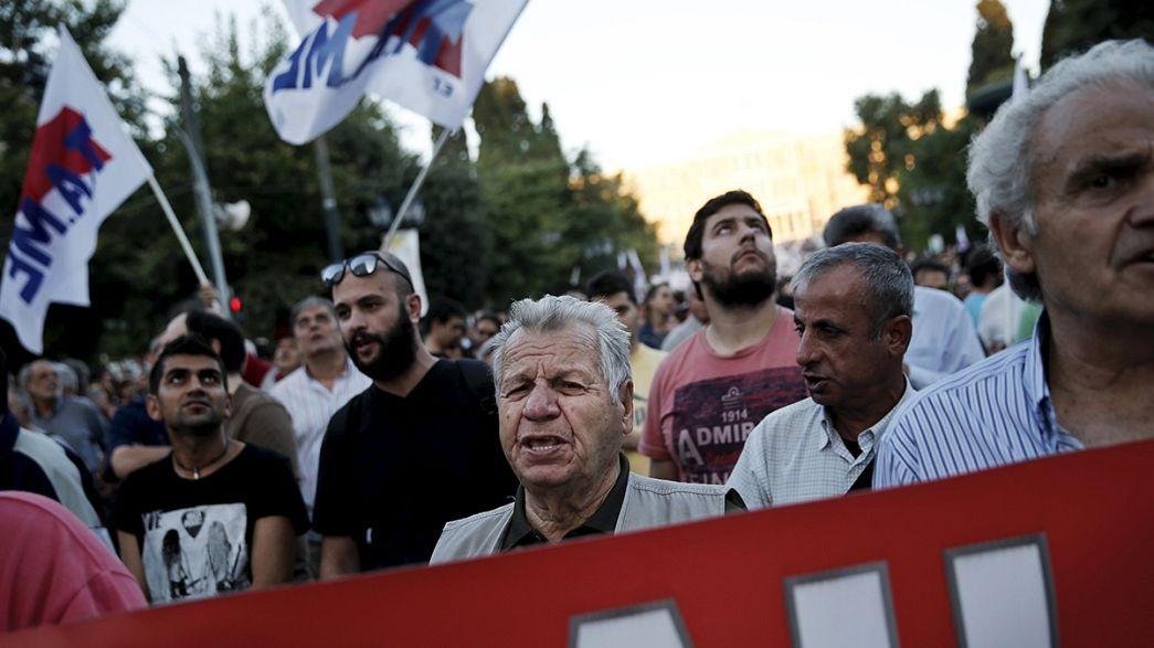 مظاهرة مناهضة للاجراءات التقشفية وسط اثينا