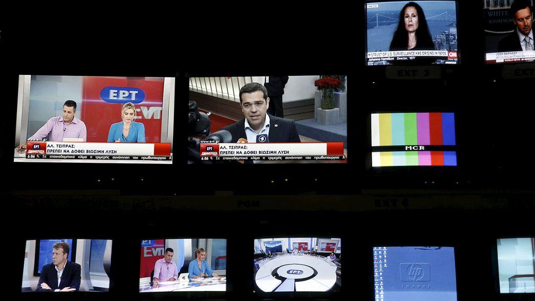 La radiotelevisión pública griega ERT reabre dos años después