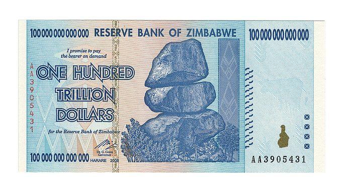 Simbabwe tauscht 250.000.000.000.000 Dollar gegen einen US-Dollar
