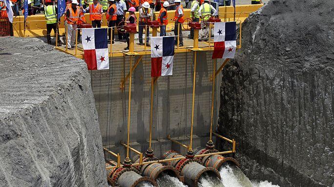 Vízzel töltik fel a Panama-csatorna új zsilipét