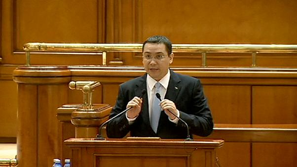 Romania's leftist government led by Prime Minister Victor Ponta survives a no-confidence vote