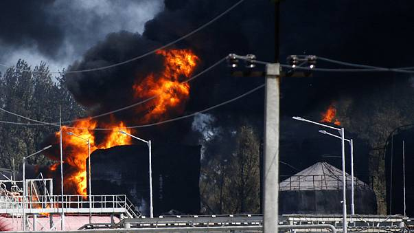 Arrests made over Ukraine fuel depot fire