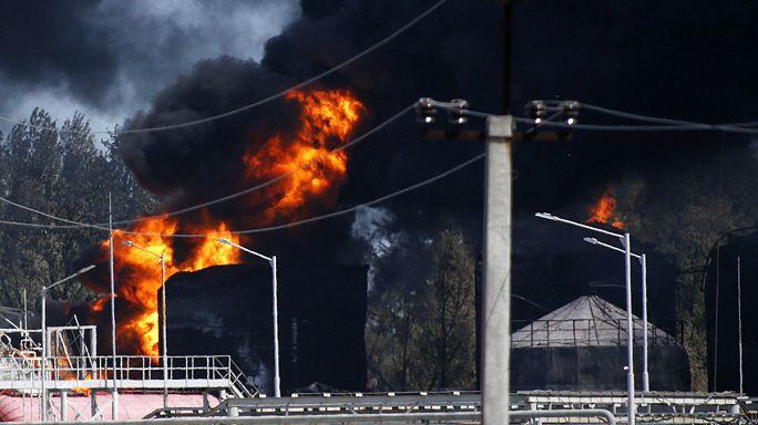 Incendie d'un dépôt pétrolier en Ukraine : deux personnes arrêtées