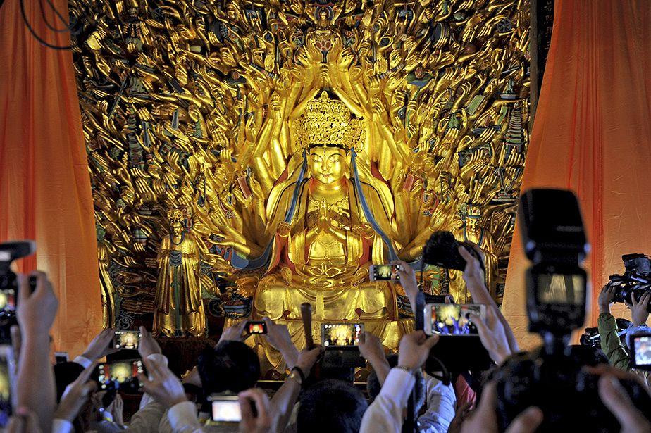 La Chine dévoile une statue bouddhiste restaurée vieille de 800 ans
