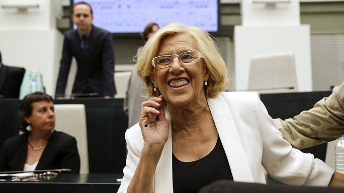 Une indignée à la maire de Madrid
