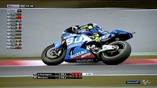 Aleix Espargaro claims poll for Suzuki at Catalunya Grand Prix