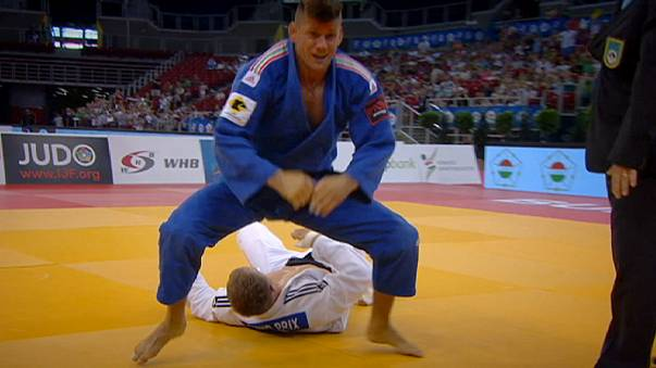 Yeldos Smetov strikes gold at the Budapest Judo Grand Prix.