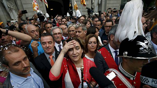 Anti-austerity leaders sworn in as Madrid & Barcelona mayors