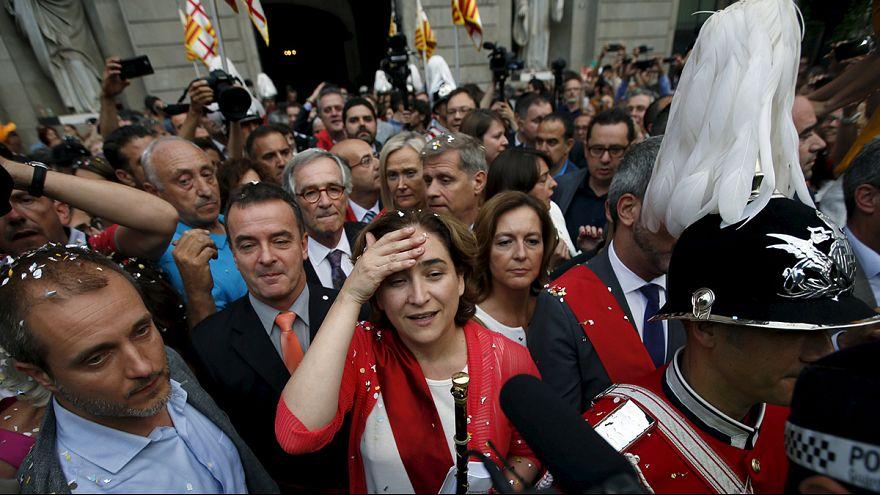 Anti-austerity leaders sworn in as Madrid & Barcelona mayors