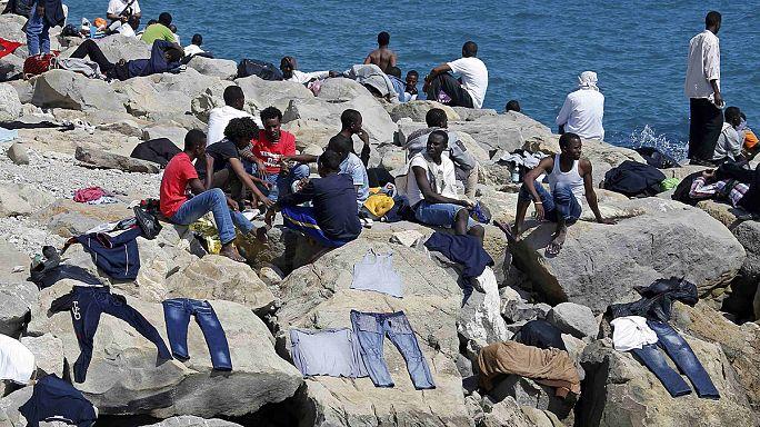 Italien: Notunterkünfte für Flüchtlinge am Bahnhof in Rom
