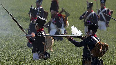 A Ligny (Belgio) per la ricostruzione storica dell'ultima vittoria di Napoleone