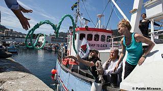 La Freedom Flotilla di nuovo in rotta verso Gaza. Le immagini a bordo dell'inviato di euronews