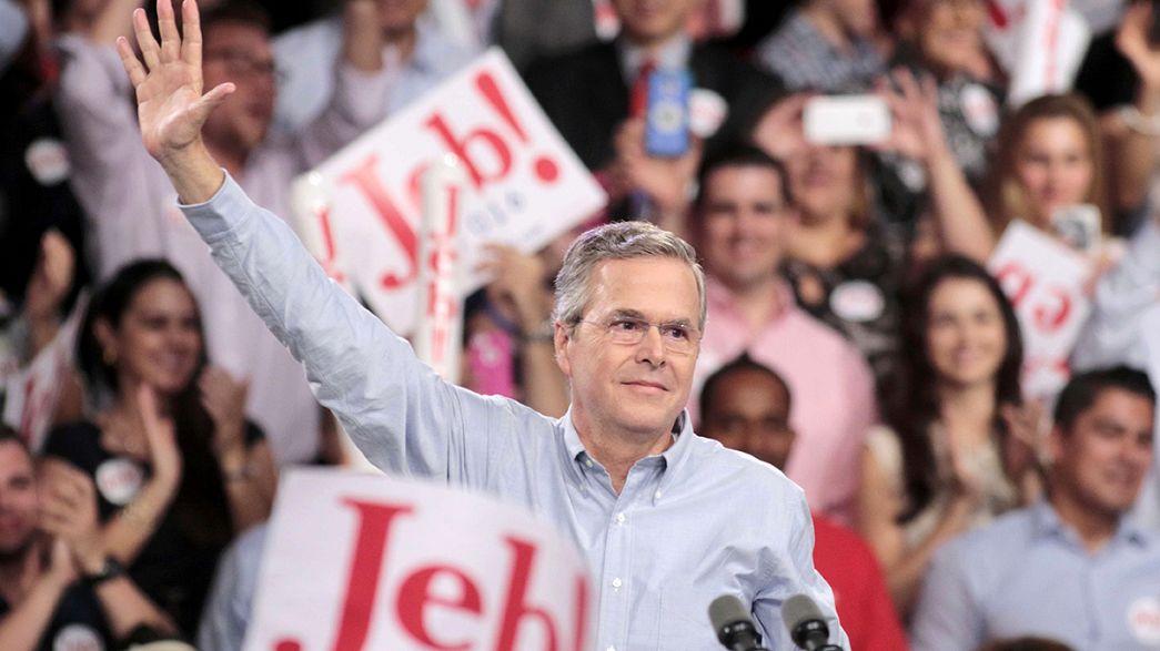 Jeb Bush apja és bátyja nyomában – ringbe szállt az amerikai elnökségért