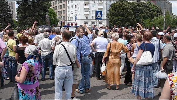 Ukrayna'nın doğusunda barış eylemi