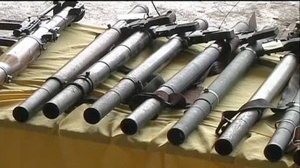 Philippine rebel group hand over weapons as part of peace deal
