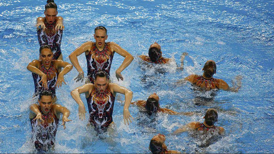 Dominio ruso en la piscina de los Juegos Europeos de Bakú