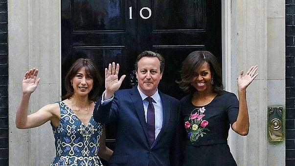 London: Michelle Obama trifft Cameron
