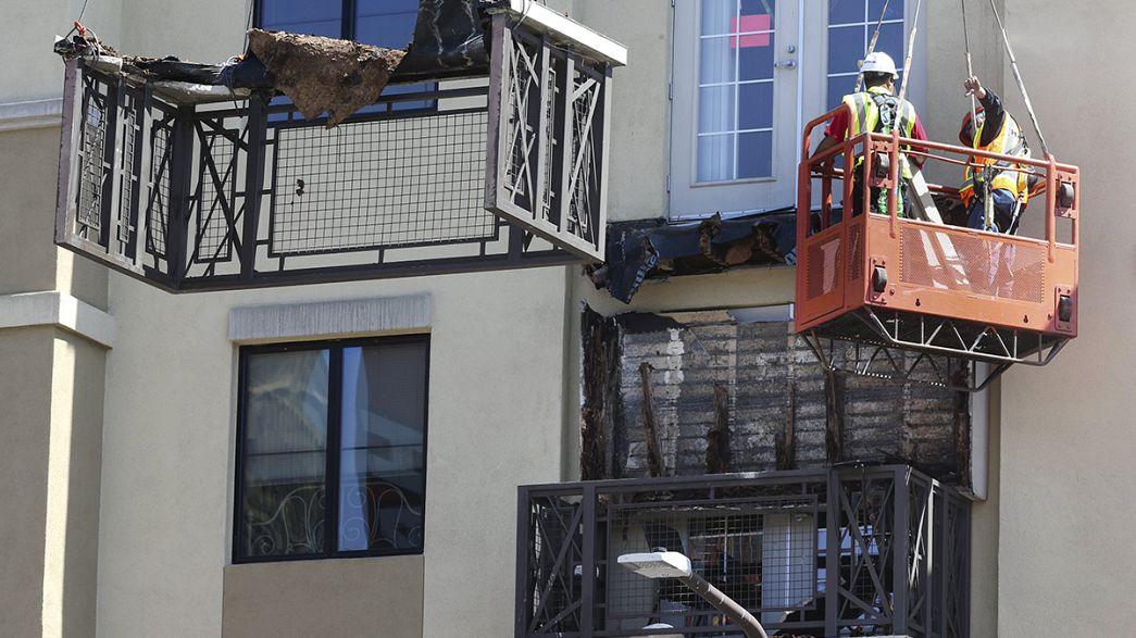 Mueren seis jóvenes al derrumbarse un balcón en Estados Unidos