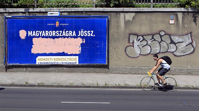 A budapesti metróban kampányol a menekültekért az ENSZ